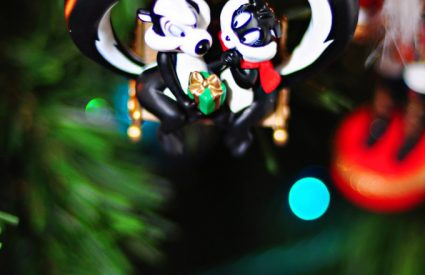 Pepe Le Pew and Penelope Hallmark Christmas ornament