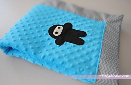 {DIY} Ninja Baby Blanket with Mitered Corner