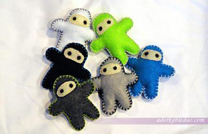 army of diy ninja plushies - adorkableduo