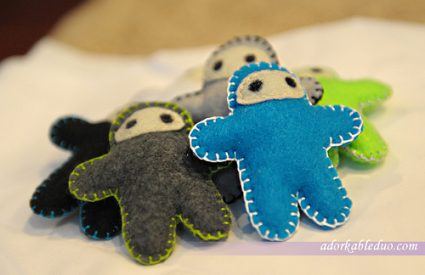 {DIY} Ninja Plushies for Hanging Mobile