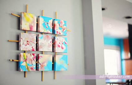 diy sectioned canvas wall art or decor - adorkableduo.com