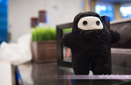 diy stuffed toy craft, ninja plush - adorkableduo.com