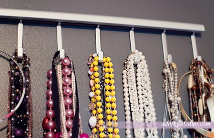 diy earring and necklace (jewelry) display - adorkableduo.com
