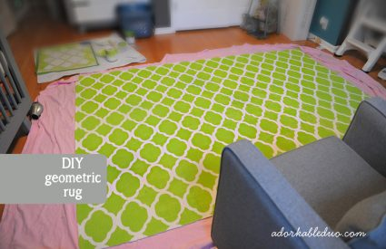 {DIY} Hand Painted Rug for Nursery