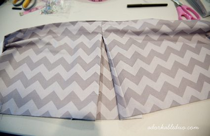 {DIY} Easily Adjustable Box Pleat Crib Skirt, Part 2