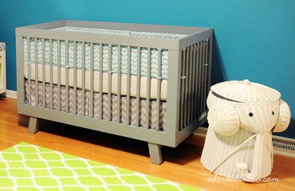 {DIY} Easily Adjustable Box Pleat Crib Skirt, Part 1