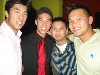With his brother and friends from the east side