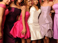 unmatching bridesmaid dresses