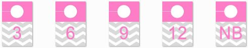 diy chevron, modern 4x6 photo closet dividers for nursery in pink