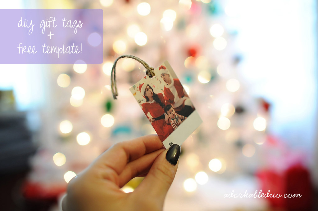 diy gift tags for presents and free template printables