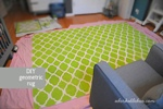 diy hand painted stencil rug for nursery decor - adorkableduo.com