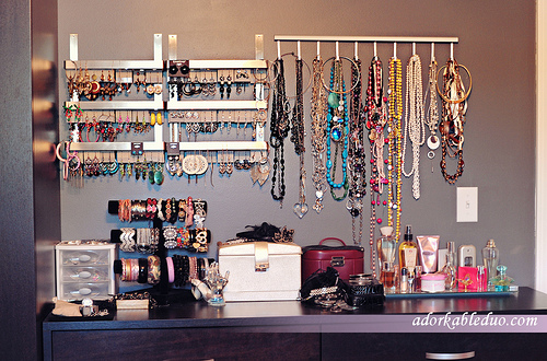 diy earring and necklace (jewelry) display