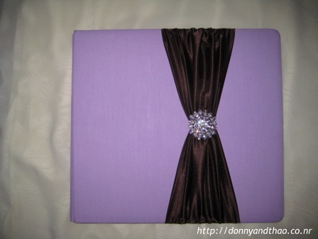 Finished diy wedding Guestbook