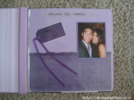 Finished DIY Wedding Guestbook Scrapbook Pages