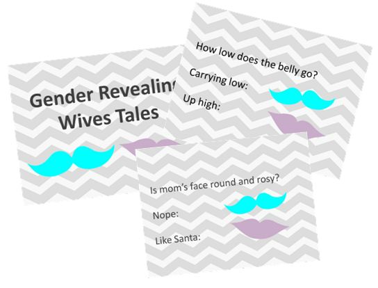 wives tale game for gender reveal party slides