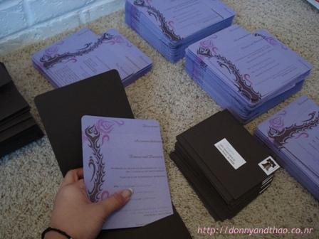 diy wedding invitation pocketfolds
