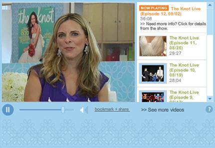 Screenshot of my interview on The Knot Live
