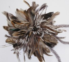 Brown pheasant feathers for wedding bouquet - adorkableduo.com