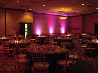 wedding reception room decor