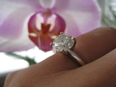 The diamond rock he placed on my hand