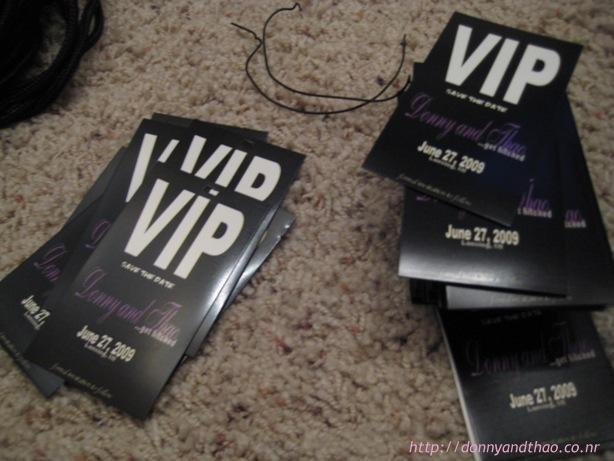 DIY Save The Date VIP Passes Adorkable Duo Wedding