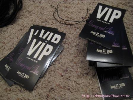 diy VIP save the dates for our friends