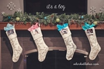 second baby holiday, christmas announcement with stockings - adorkableduo.com