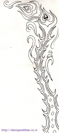 Dragon/Phoenix Tail Sketch Design