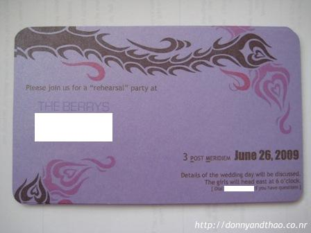 diy wedding rehearsal invitation
