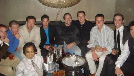 The guys enjoying VIP at TAO for bachelor party