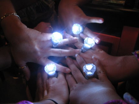 Blinky Rings for bachelorette party